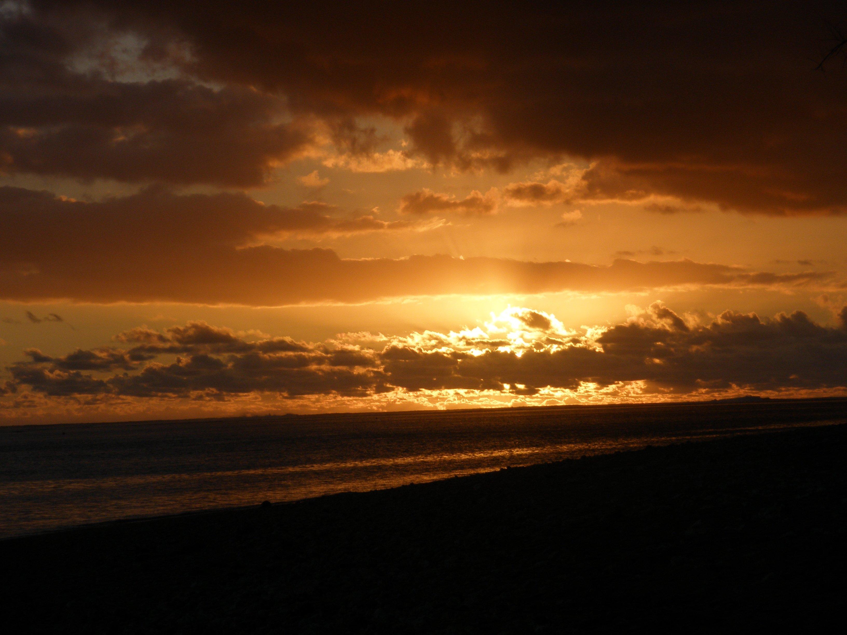 coucher de soleil la saline